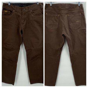 Kuhl Patina Vintage Dyed Pants Dark Brown 36x 30